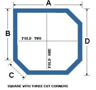 Square with Three Cut Corners